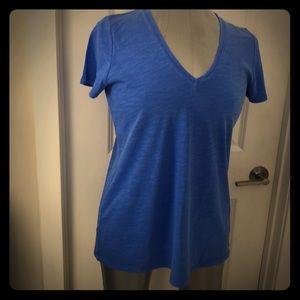 Blue V-Neck Tee Shirt